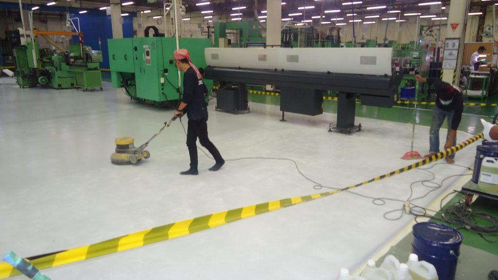 proses epoxy lantai